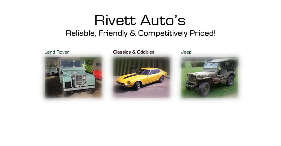 Rivett Autos Image of Subaru, Land Rover, Classics and Oddities and Jeep
